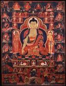 Shakyamuni Buddha: with 16 Arhats