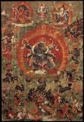 Mahakala (Buddhist Protector): Shadbhuja (Six-hands)