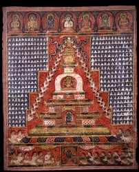 Stupa (Buddhist Reliquary): Painting