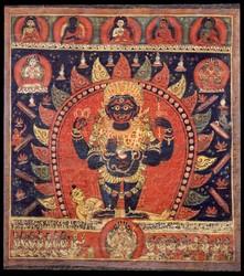 Mahakala (Buddhist Protector): (1 face - 4 hands)