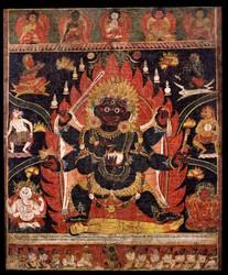 Mahakala (Buddhist Protector): (1 face - 6 hands)