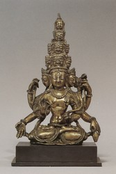 Avalokiteshvara (Bodhisattva & Buddhist Deity): (11 faces, 6 hands)