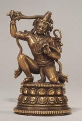 Achala (Buddhist Deity): Blue, Kneeling