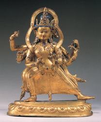 Marichi (Buddhist Deity): (3 faces, 6 hands)