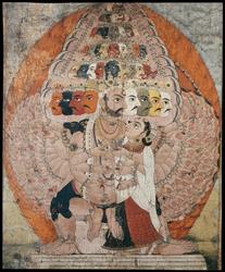 Shiva (Indian God): (multiple faces)