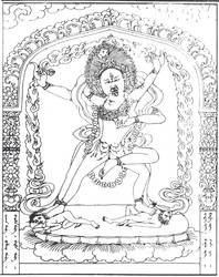 Vajrayogini (Buddhist Deity): (Reversed Position)