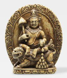 Vaishravana (Buddhist Protector): Riding a Lion