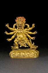 Hayagriva (Buddhist Deity): Red (3 faces, 6 hands. Secret Accomplishment)