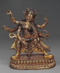 Parnashavari (Buddhist Deity): (three faces, six hands)