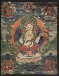 Sarasvati (Indian Goddess & Buddhist Deity): White (2 hands)