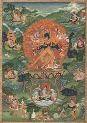 Kalachakra (Buddhist Deity): (4 faces, 24 hands)