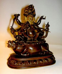 Yamari, Krishna (Buddhist Deity): (3 Faces, 6 Hands)
