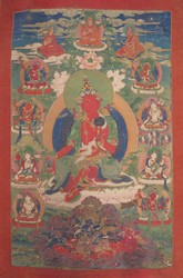 Sarasvati (Indian Goddess & Buddhist Deity): Red (2 hands. Shakyashri Bhadra)