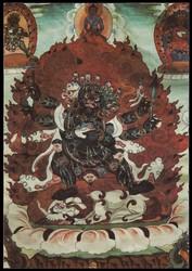 Mahakala (Buddhist Protector): Shadbhuja (50 Ch. Mahakala Tantra)