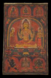 Prajnaparamita (Buddhist Deity): Yellow (4 hands)