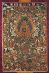 Shakyamuni Buddha: with Sixteen Elders (Arhats)