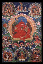 Ganapati (Indian God & Buddhist Deity): Red (2 hands)
