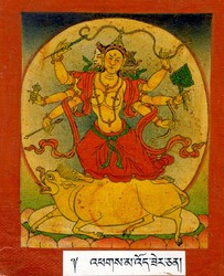 Marichi (Buddhist Deity): (3 faces, 6 hands)