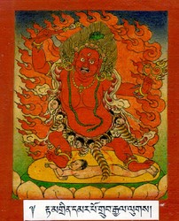Hayagriva (Buddhist Deity): Red (1 face, 2 hands)