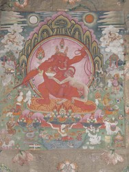 Ganapati (Indian God & Buddhist Deity): Red (2 hands)