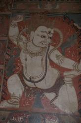 Achala (Buddhist Deity): White, Kneeling