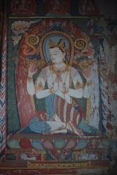 Avalokiteshvara (Bodhisattva & Buddhist Deity): (Retinue: Shadakshari)