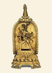 Marichi (Buddhist Deity): Kalpoktam (3 faces, 8 hands)