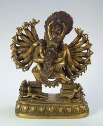 Vajrabhairava (Buddhist Deity): with consort