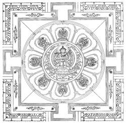 Avalokiteshvara (Bodhisattva & Buddhist Deity): Jinasagara (Ocean of Conquerors, Four Arms)