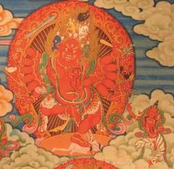 Marichi (Buddhist Deity): Odiyana-krama (6 faces, 12 hands)