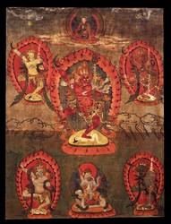 Simhamukha (Buddhist Deity): Red