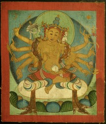 Sitatapatra (Buddhist Deity): (Three faces, ten hands)