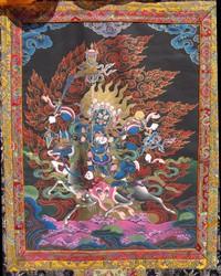 Sipai Gyalmo (Bon Protector): Riding a Black Mule (dreu nagmo)