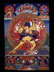 Kalachakra (Buddhist Deity): (4 faces, 24 hands)