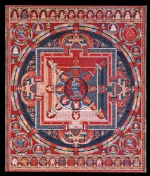 Yamari, Krishna (Buddhist Deity): (6 Faces)