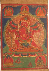 Hayagriva (Buddhist Deity): Red (3 faces, 6 hands. Secret Accomplishment)