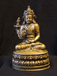 Kunzang Akor (Bon Deity): (right hand raised)