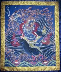 Sipai Gyalmo (Bon Protector): Riding a Bird (two hands)