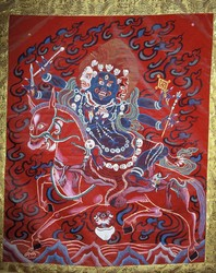 Sipai Gyalmo (Bon Protector): Riding a Red Mule (dreu marmo)