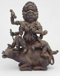 Yamari, Krishna (Buddhist Deity): (6 Faces)