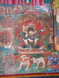 Yogambara (Buddhist Deity): (Three Faces, Six Arms)