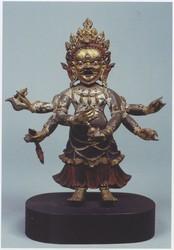 Mahakala (Buddhist Protector): Shadbhuja, Sita (White, Shangpa)