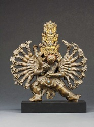 Mahottara Heruka (Buddhist Deity): (9 Faces)
