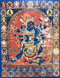Humkara (Buddhist Deity): (Six Arms)