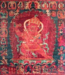 Hayagriva (Buddhist Deity): Red with consort (1 face, 2 hands)
