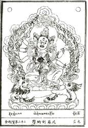 Jnana Dakini (Buddhist Deity): (Three Faces, Six Arms)