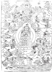 Vajradhara Buddha: with the 84 Mahasiddhas