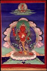 Sarasvati (Indian Goddess & Buddhist Deity): Red (2 hands. Longchen Nyingtig)