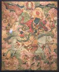 Vaishravana (Buddhist Protector): Riding a Lion (Retinue Figure)