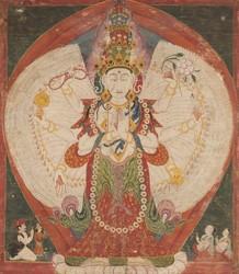 Avalokiteshvara (Bodhisattva & Buddhist Deity): Sahasrabhujalokeshvara (11 faces, 1000 Hands)